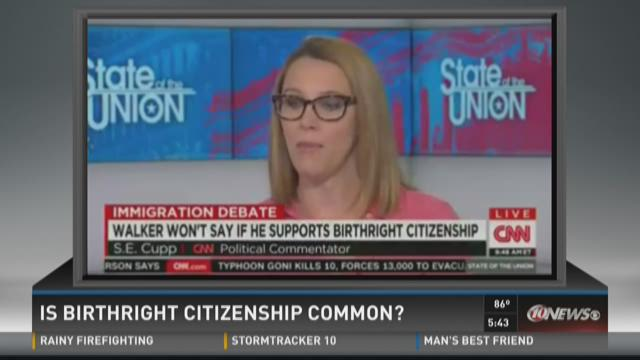 PunditFact: Is birthright citizenship common?