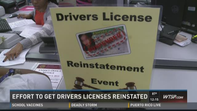 Effort to get Drivers Licenses reinstated
