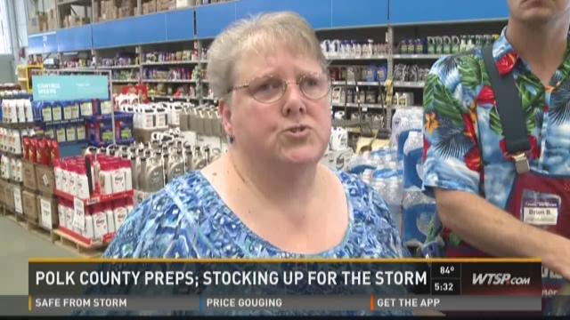 Polk County, residents prep for Erika