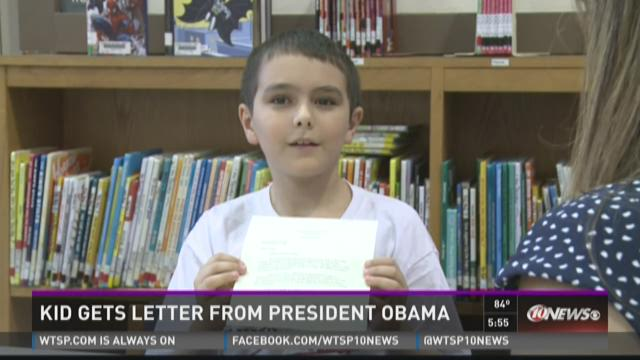 Bradenton student gets reply from Obama