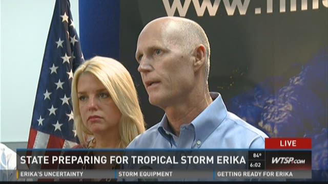 State preparing for Tropical Storm Erika