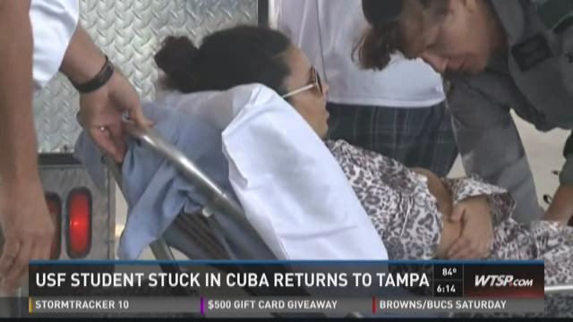USF student stuck in Cuba returns to Tampa