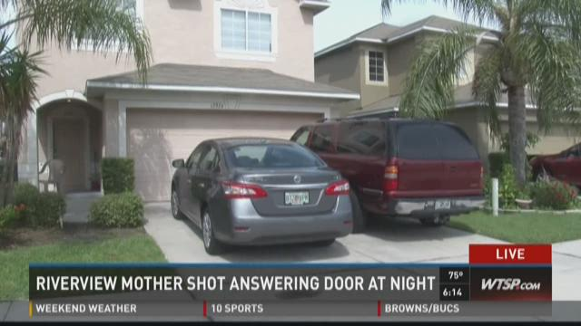 Riverview mother shot answering door at night