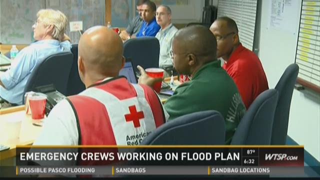 Emergency crews working on flood plan
