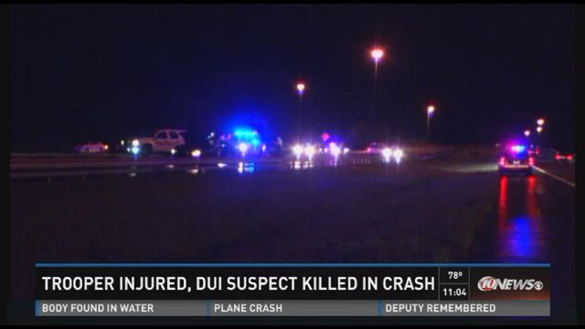 WTSP Video Report: FHP trooper seriously injured; DUI suspect killed in I-75 crash in Sarasota