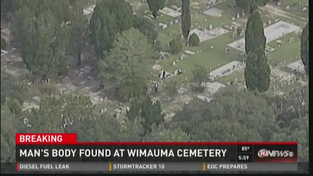 Man's body found at Wimauma Cemetery