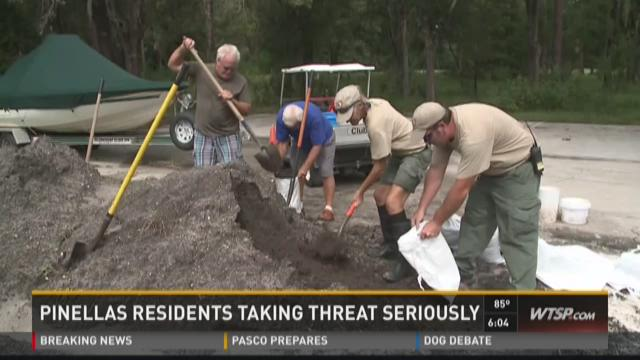 Pinellas residents taking storm threat seriously