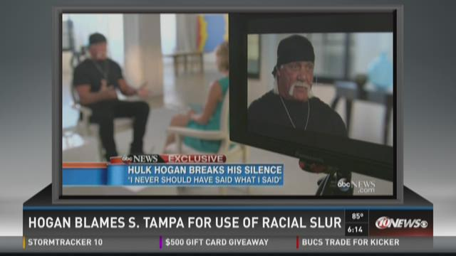 Hogan blames S. Tampa for use of racial slur