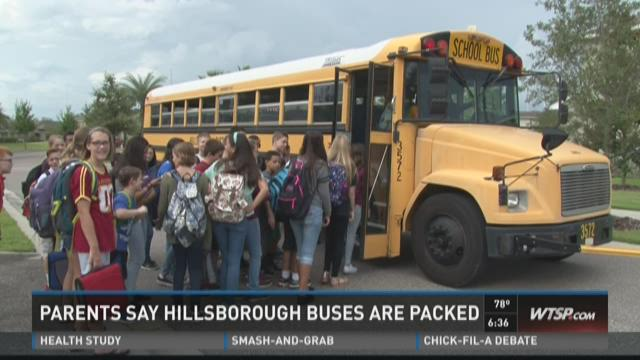Parents say Hillsborough buses are packed