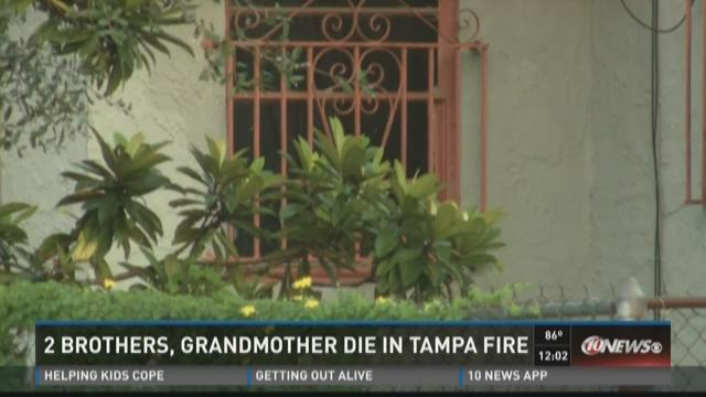 2 brothers, grandmother die in Tampa fire