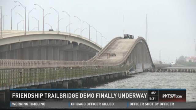 Friendship Trail Bridge nears demolition