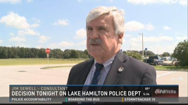 Lake Hamilton to discuss police department