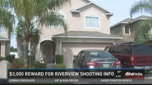 Cash reward for Riverview shooting information
