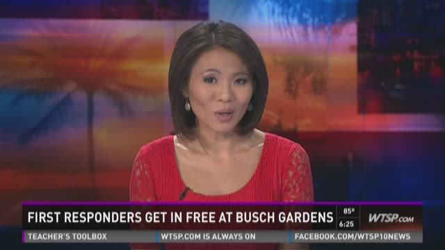 Busch Gardens offers free tix for first responders