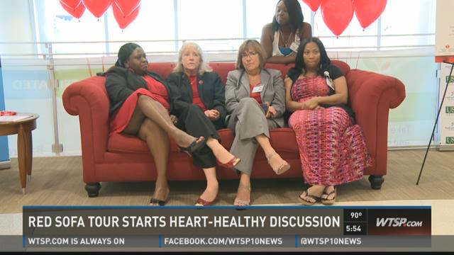 Red sofa campaign carries message on heart health