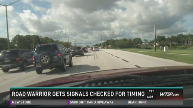 Road Warrior gets signals checked for timing
