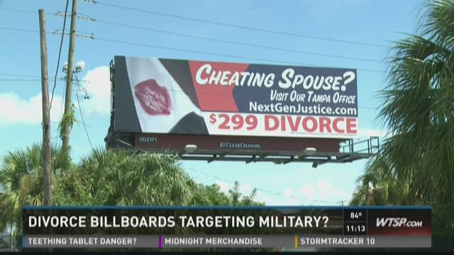 Local ads target military divorces