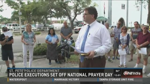 Community participates in day of prayer for police