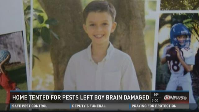 Tented home left boy brain damaged