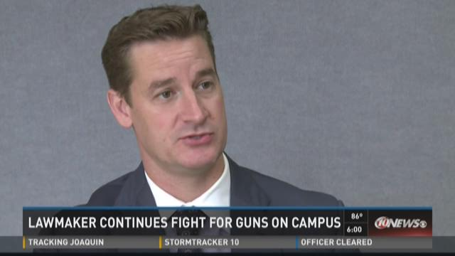 Lawmaker continues fight for guns on campus