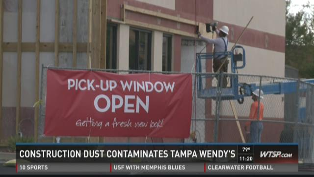 Construction dust contaminates Tampa Wendy's