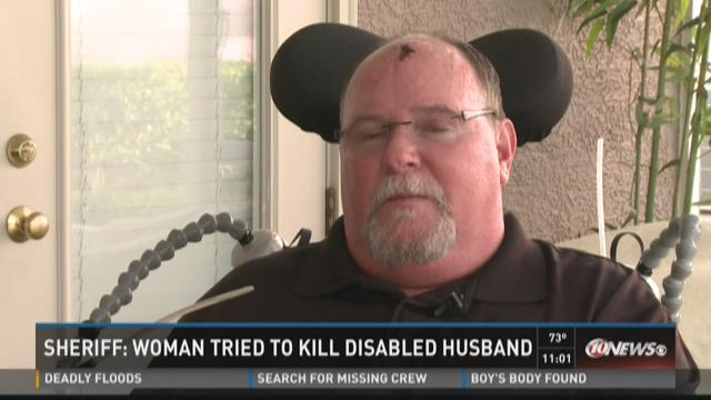 Sheriff: Woman tried to smother disabled husband