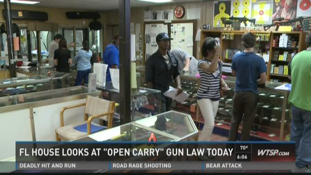 "FL House looks at ""open carry"" gun law today"