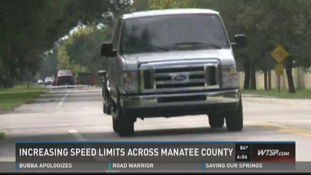 Increasing speed limits across Manatee County