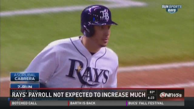 Tampa Bay Rays payroll not expected to increase in 2016