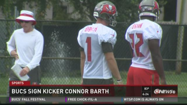 Bucs sign kicker Connor Barth