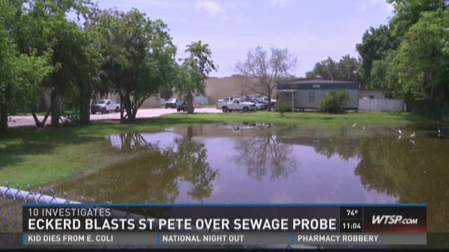 Eckerd blasts St. Pete over sewage probe