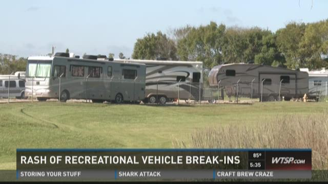 Rash of recreational vehicle break-ins