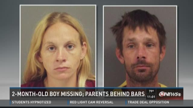 2-month-old boy missing; parents behind bars