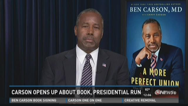 Carson opens up about book, presidential run
