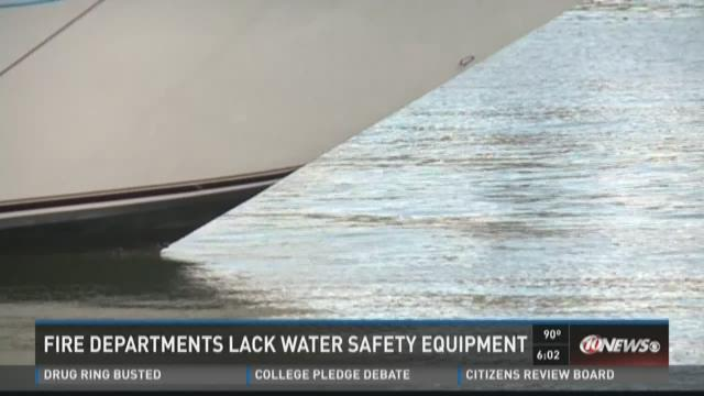 Fire departments lack water safety equipment