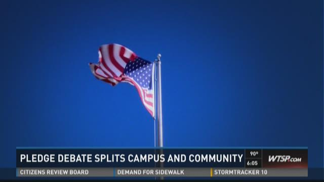 Pledge debate splits campus and community