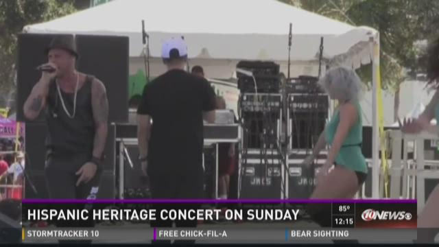Hispanic Heritage Concert on Sunday