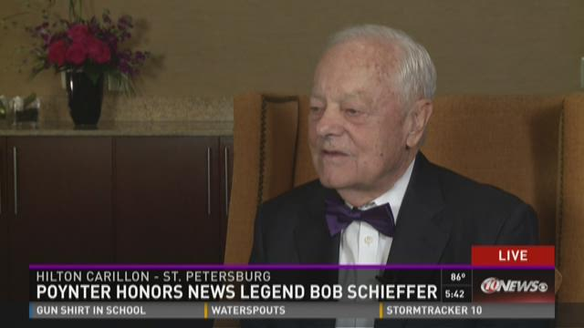 Poynter honors news legend Bob Schieffer