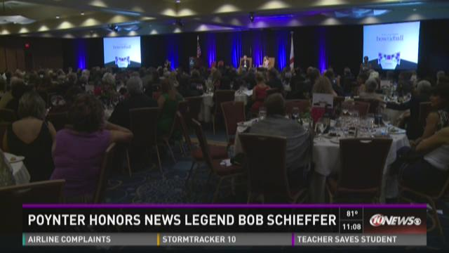 Poynter honors Bob Schieffer