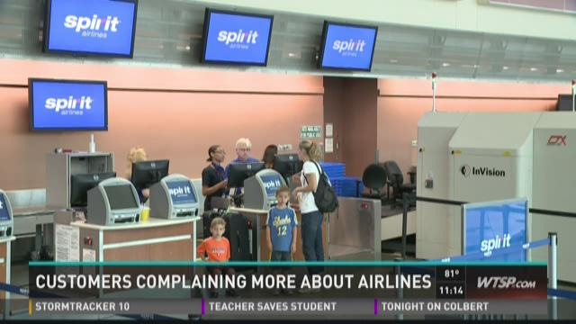 Customers complaining more about airlines
