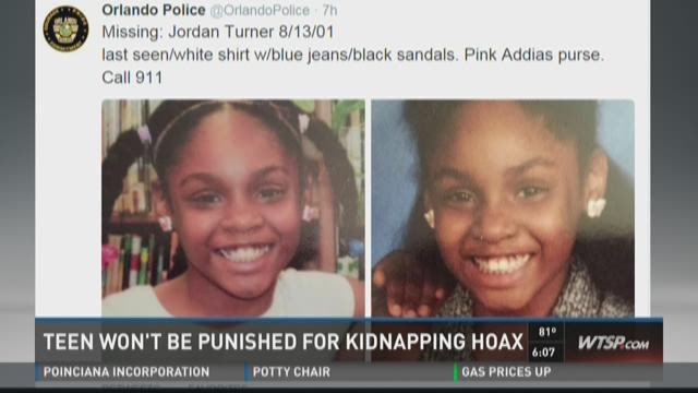 Teen won't be punished for kidnapping hoax