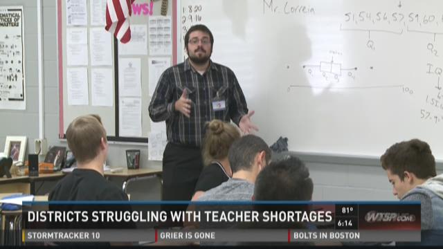 Districts struggle with teacher shortages