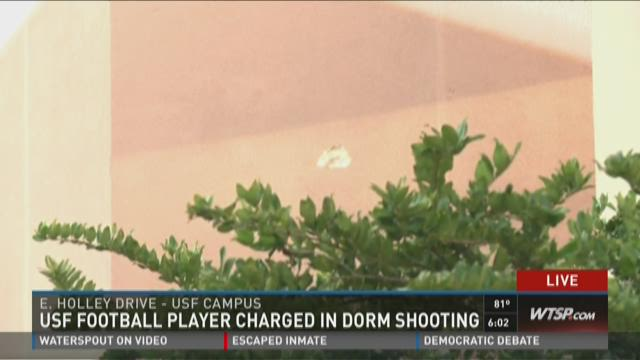USF Football player charged in dorm shooting