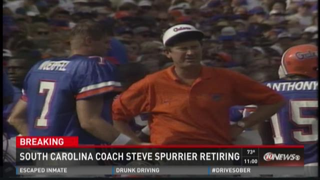 South Carolina coach Steve Spurrier retiring