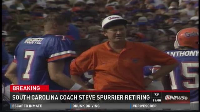 South Carolina coach Steve Spurrier retiring