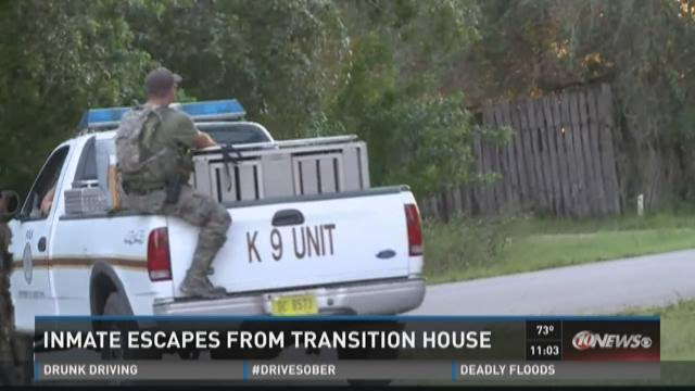 Inmate escapes from transition house