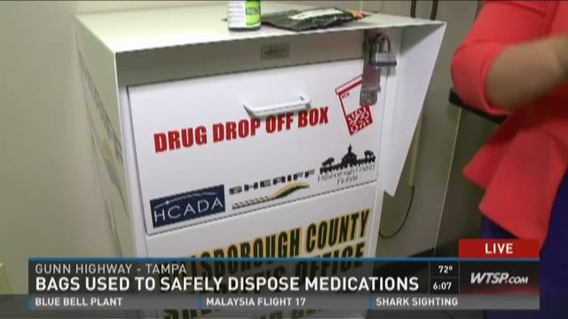 Bags used to safely dispose medications