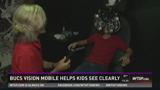 Bucs vision mobile helps kids see clearly