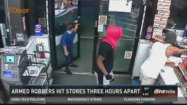 Armed robbers hit stores three hours apart in Pinellas Park and Tampa