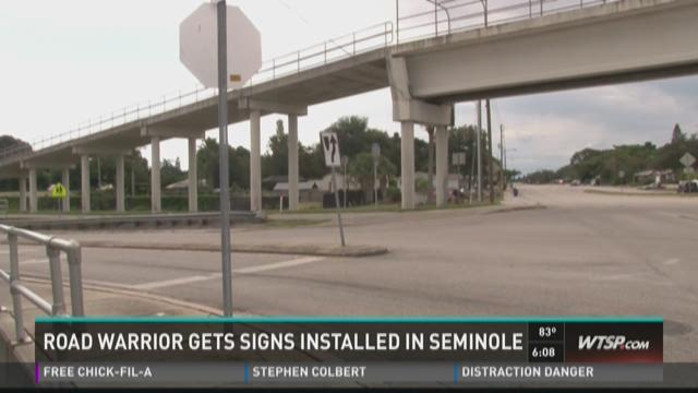 10 News Road Warrior gets signs installed in Seminole